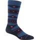 Icebreaker W's Lifestyle Over The Calf Baujacq Socks Admiral/Equinox HTHR/Pop Pink